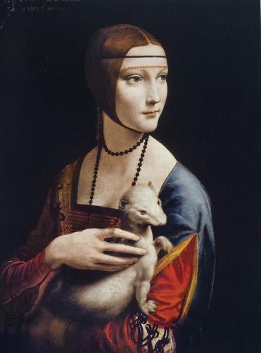 Leonardo da Vinci attr. Lady with Hermelin; Kraków copy